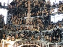 橄榄山的教堂与一幅耶稣受难象和一幅受难象的圣Urlich或模子Oelbergkapelle Olbergkapelle大教堂的  库存照片