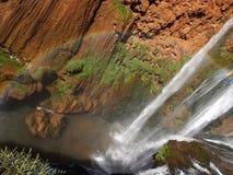 橄榄树瀑布,摩洛哥 库存照片