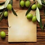 橄榄油标签 免版税库存照片