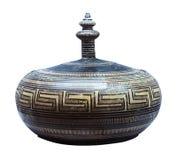 橄榄油的古希腊amphorae 库存图片