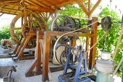 橄榄油的水机器 库存图片
