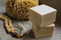 橄榄油肥皂 免版税库存照片