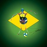 橄榄球世界杯子 向量例证