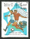 橄榄球世界杯1986年在墨西哥 库存照片