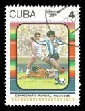 橄榄球世界杯1986年在墨西哥 免版税库存图片