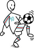 橄榄球人足球 免版税库存图片