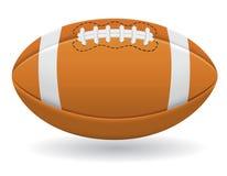 橄榄球传染媒介例证的球 免版税库存照片