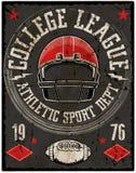 橄榄球体育印刷术;T恤杉图表;传染媒介 免版税库存图片