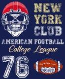 橄榄球体育印刷术;T恤杉图表;传染媒介 图库摄影