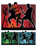 橄榄球例证足球 库存图片