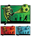 橄榄球例证足球 图库摄影