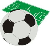 橄榄球例证 库存图片