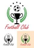 橄榄球俱乐部冠军象征或象 免版税库存照片