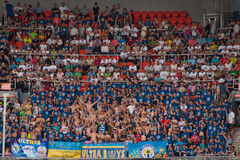 橄榄球俱乐部Metalurh顿涅茨克爱好者 图库摄影