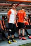 橄榄球俱乐部Shakhtar的Kanibolotskiy安东守门员 免版税库存照片