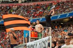橄榄球俱乐部Shakhtar顿涅茨克爱好者 免版税图库摄影