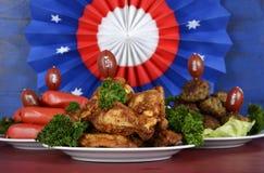 橄榄球党食物 免版税图库摄影