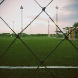 橄榄球公园 免版税库存照片