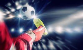 橄榄球反撞力 库存照片