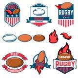 橄榄球同盟 橄榄球标签、象征和设计元素 橄榄球c 库存例证