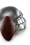 橄榄球和体育盔甲特写镜头  免版税图库摄影