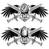 橄榄球和橄榄球盾象征 库存图片
