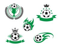 橄榄球和足球设计元素 免版税库存照片