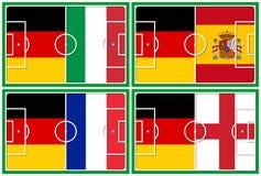 橄榄球四分之一决赛德国竞争者 库存照片