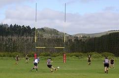 橄榄球在新西兰 免版税库存照片