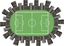 橄榄球场商标 免版税库存图片