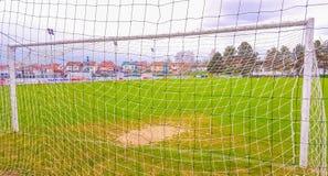 橄榄球场在Pozega,看法通过网 库存照片
