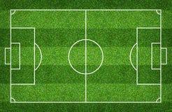 橄榄球场或足球场背景的 绿色草坪法院为创造比赛 免版税库存照片