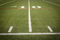 橄榄球场标号 免版税图库摄影
