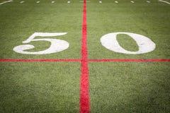 橄榄球场标号 免版税库存照片