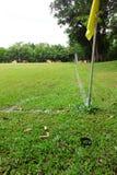 橄榄球场的角落 库存图片