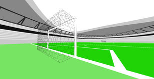 橄榄球场目标我自己的视图设计 免版税库存照片