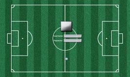 橄榄球场空白安全系统 免版税库存照片