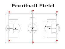 橄榄球场线,足球归档了线 标准的测量 体育传染媒介例证 图象, jpeg 库存图片
