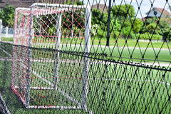 橄榄球场网 库存照片
