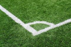 橄榄球场背景的角落 免版税库存照片