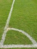 橄榄球场角落 免版税图库摄影
