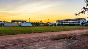 橄榄球场达沃再见 免版税图库摄影