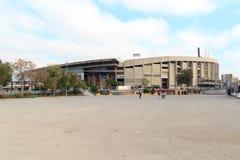 橄榄球场阵营Nou外面在巴塞罗那 库存图片