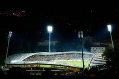 橄榄球场Ljudski vrt在马里博尔 免版税库存图片