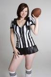 橄榄球妇女 免版税图库摄影