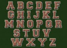橄榄球字母表 库存照片