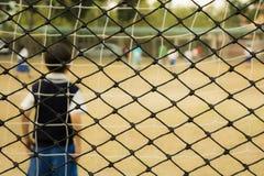 橄榄球孩子 免版税库存图片