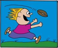 橄榄球孩子 免版税图库摄影