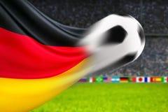 橄榄球德国 库存照片
