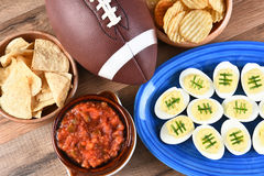 橄榄球快餐 免版税图库摄影